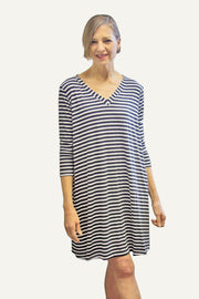 Kiitoslife Striped Tunic Dress White/Black