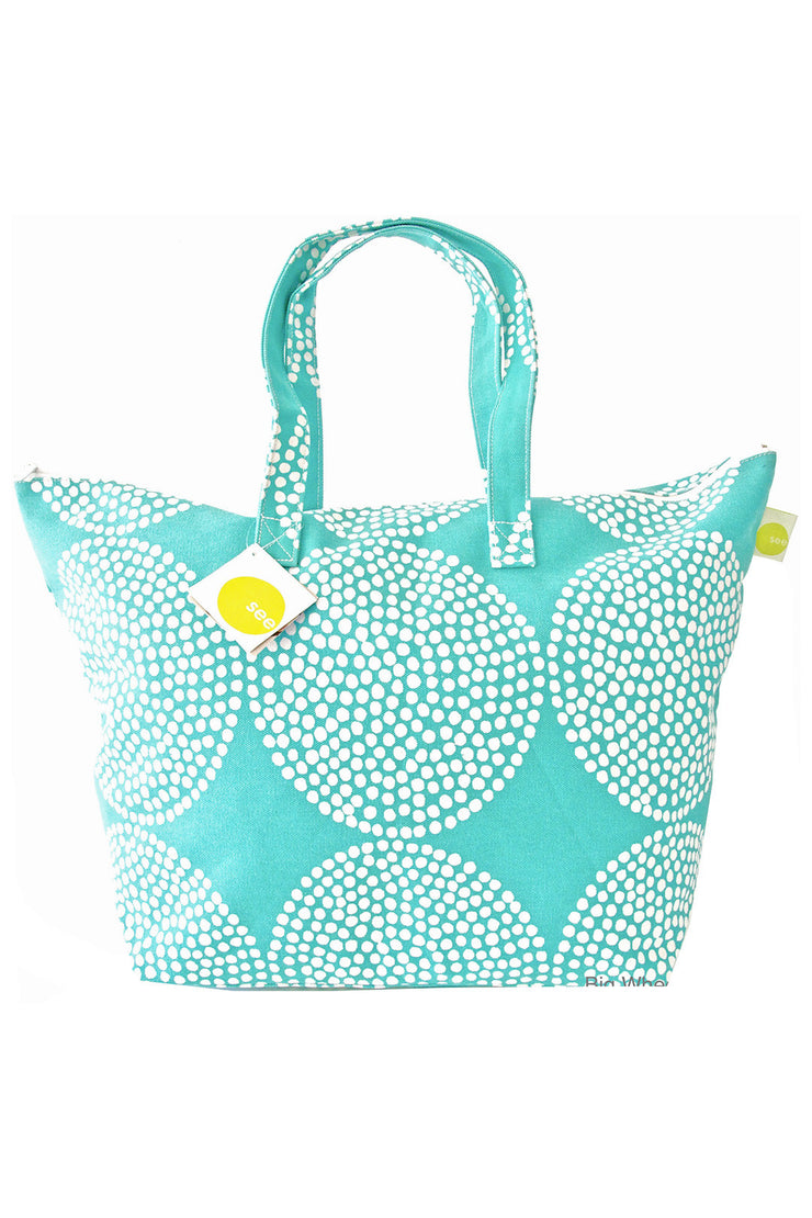 See Design See Design Weekender Bag Big Wheels Turquoise/White - KIITOSlife