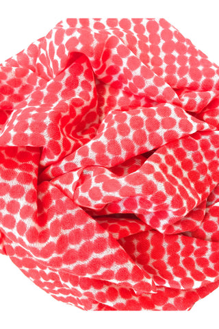 See Design Drops Scarf Red/White