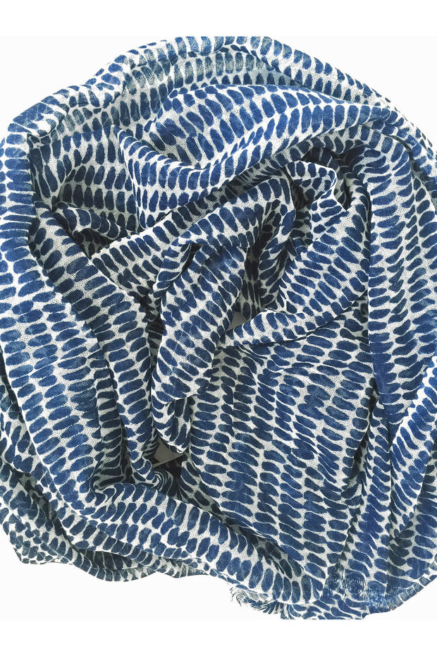 See Design See Design Seeds Scarf Navy/White - KIITOSlife