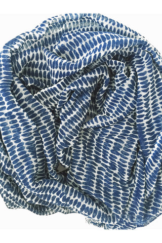 See Design Seeds Scarf Navy/White