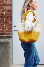 Aveva Wool Felt Small Basket/Bag Mustard