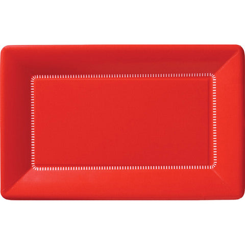 Zing Paper Dinner Plates Apple Red