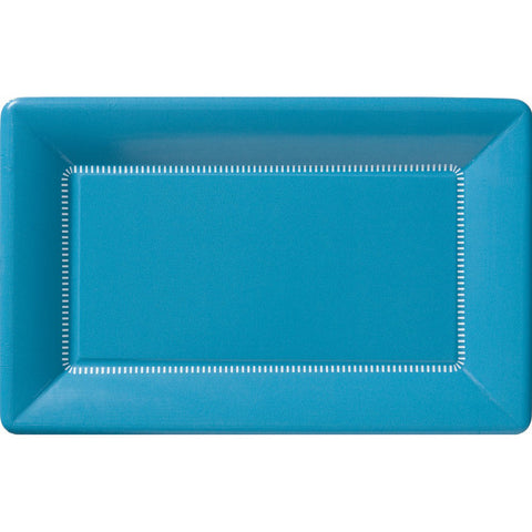 Zing Paper Dinner Plates On Ice Blue
