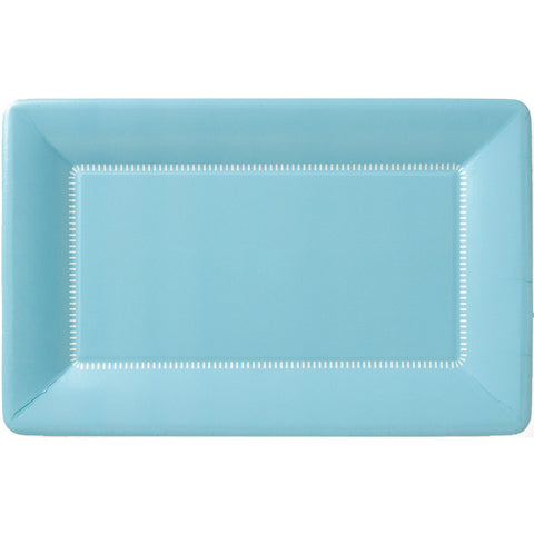 Zing Paper Dinner Plates Soft Blue