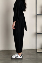 Oval Sleeve Jumpsuit