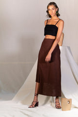 Mock Wrap Pencil Skirt