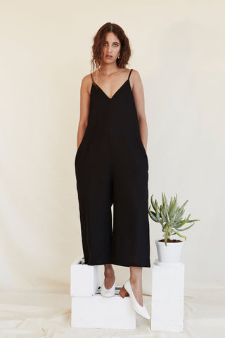 V- neck Jumpsuit