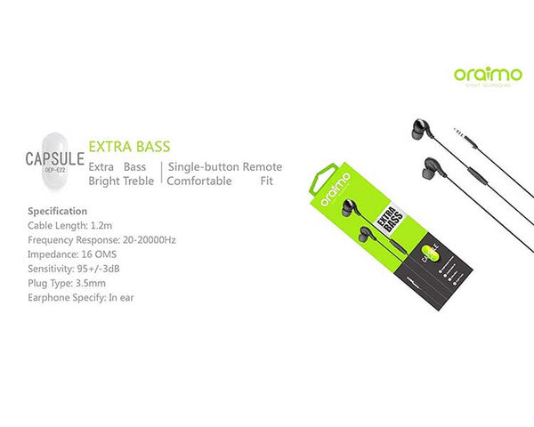 ORAIMO HEADPHONE OEP-E22