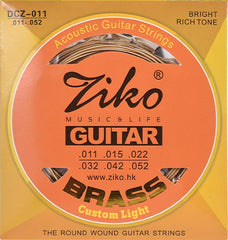Ziko DCZ Extra Light Brass Acoustic Guitar Strings