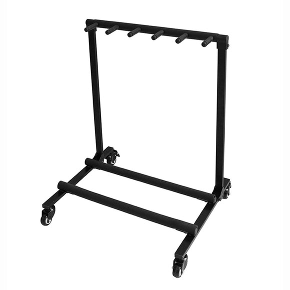Flanger FL-11L Guitar Rack with Wheels (5 electric guitars / 3 acoustic guitars + 2 electric guitars)