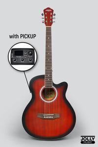 Caravan HS-4040 EQ Electric-Acoustic Guitar with FREE Gigbag and Pickup