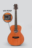 JCraft Troubadour Taka Mini GS EQ 7/8 All-Mahogany Acoustic Guitar with Pickups and soft case