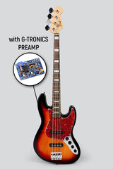 JCraft JB-2A Active 4-String Bass Guitar with Gibtronics J-Preamp / Shielding