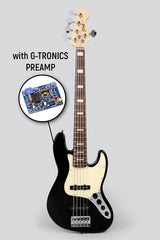 JCraft JB-2A Active 5-String Bass Guitar with Gibtronics J-Preamp / Shielding