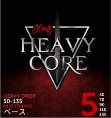 JCraft X Heavy Core 5-String Electric Bass Guitar String 50-135