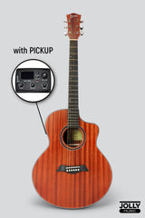 Deviser LS-121-40 40-inch All-Mahogany EQ Acoustic-Electric Guitar