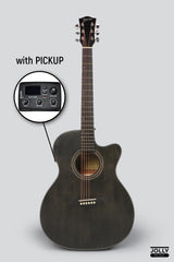 Deviser LS-130 EQ Transblack Acoustic-Electric Guitar