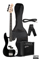 PHX PBS 4-String Precision Bass with Deviser TB-15 Bass Amplifier, and Case