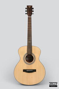 JCraft Troubadour TS-216 Solid Top Grand Symphony Acoustic Guitar with Gigbag