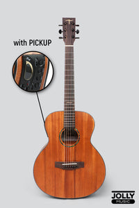 JCraft Troubadour Taka Mini GS PRO 7/8 Solid Top All-Mahogany Acoustic Guitar with soft case