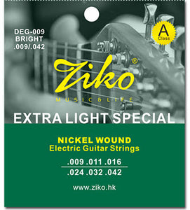 Ziko DEG-009 Regular Nickel Wound Electric Guitar Strings (9-42)