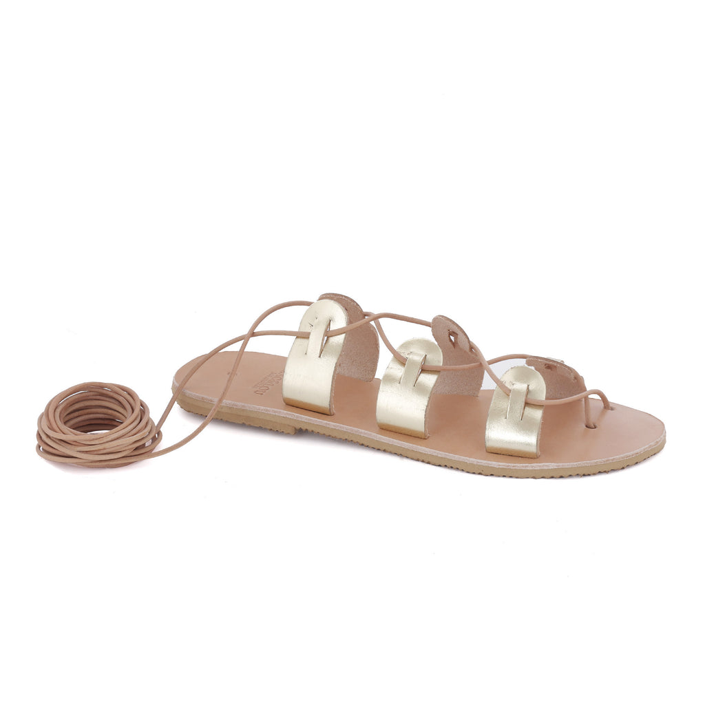 Greek Leather Sandals 'Polyhymnia'