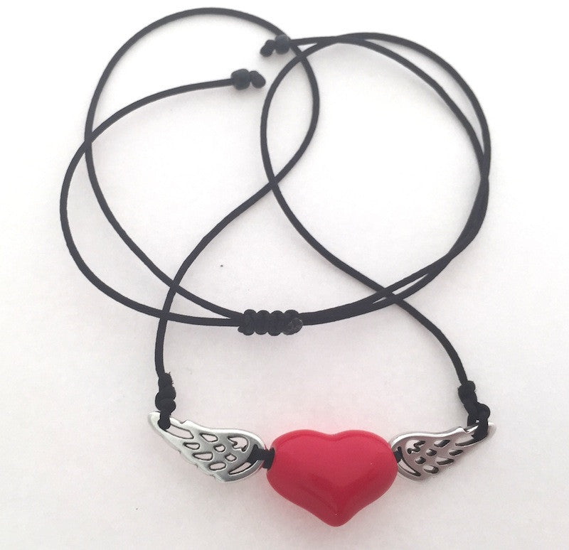 Heart necklace short