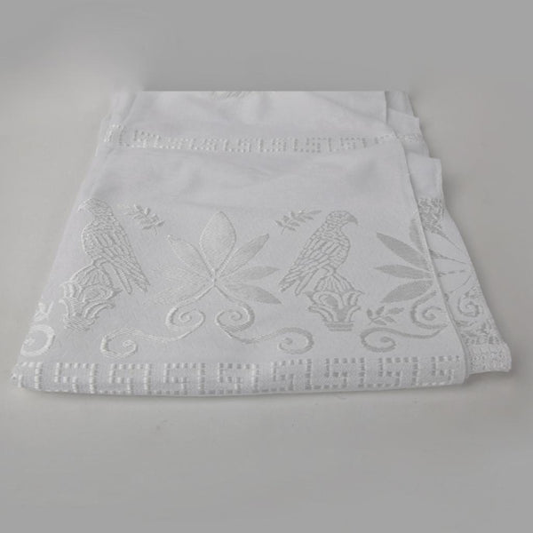 Greek Doily ~ Eagle White