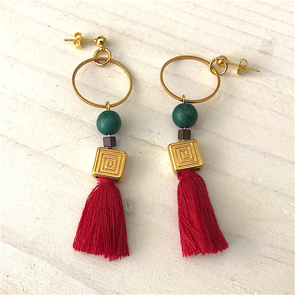 Meandros earrings