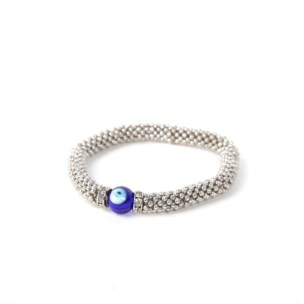 Metal Bracelet with Evil Eye