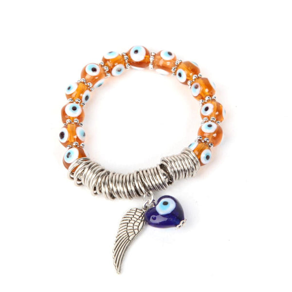 Evil Eye Dark Orange Bracelet
