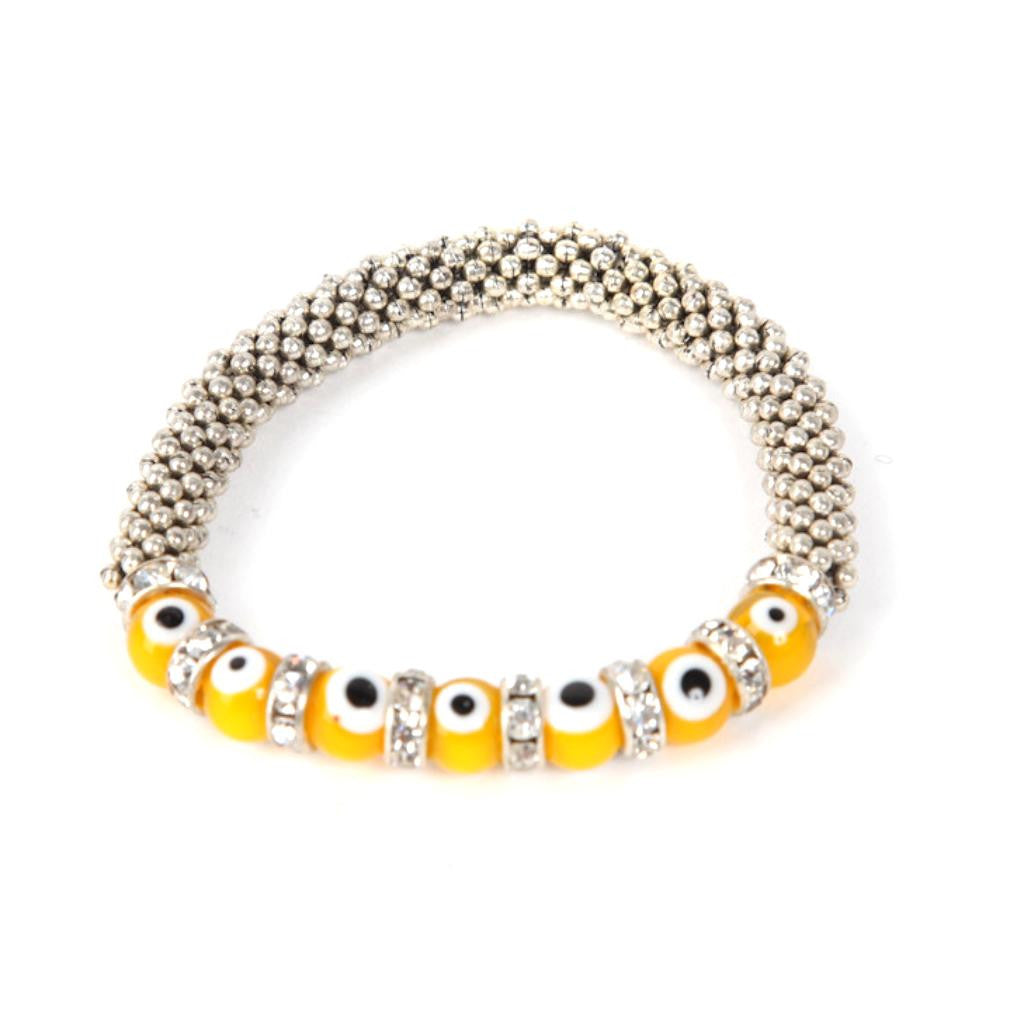 Evil Eye Yellow Bracelet
