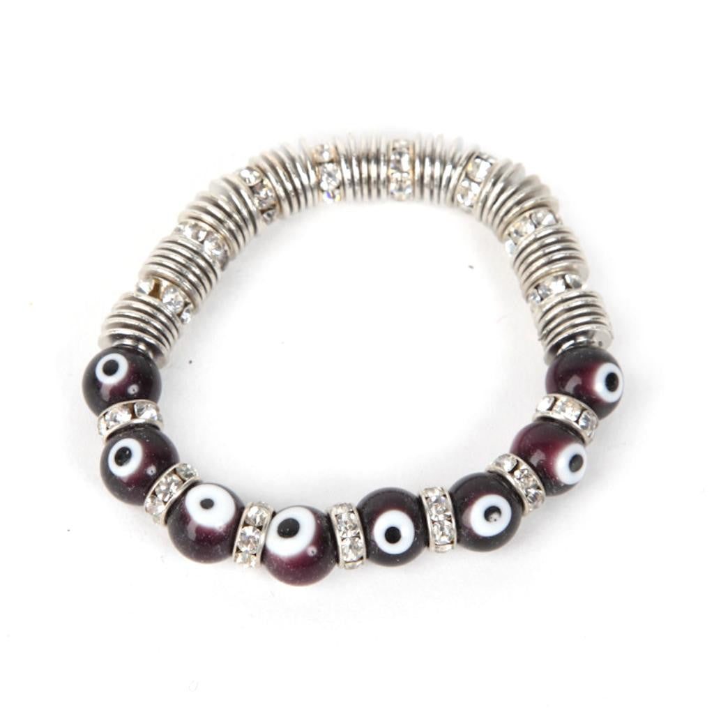 Evil Eye Dark Purple Bracelet