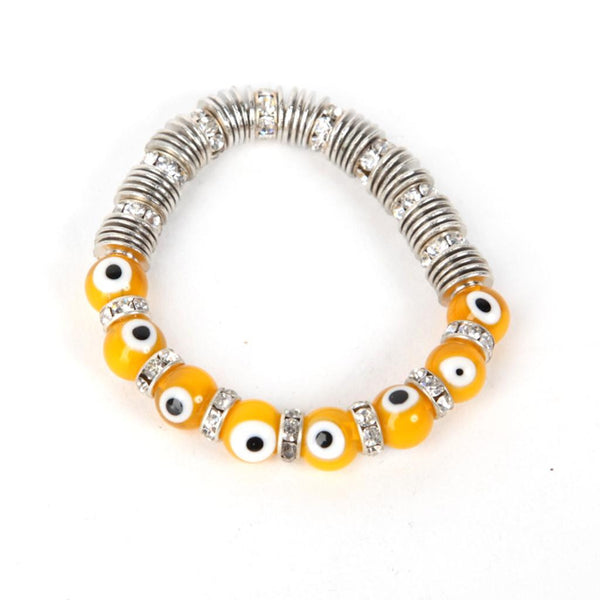 Evil Eye Dark Yellow Bracelet