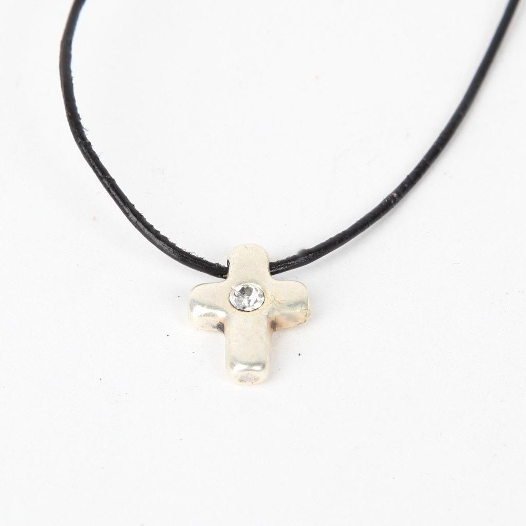 Modern Cross with White Strass