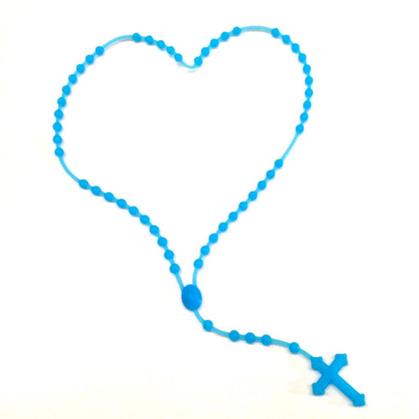 Rubber Cross Neon Blue