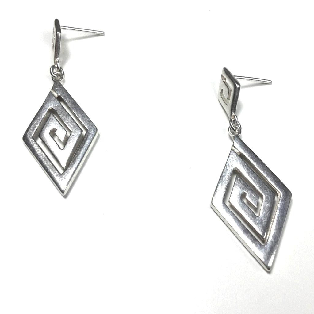 Meander ~ Sterling Silver Dangle Earrings