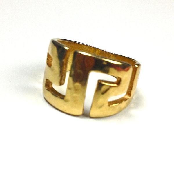 Meander ~ Sterling Silver/24K Gold Plated Ring