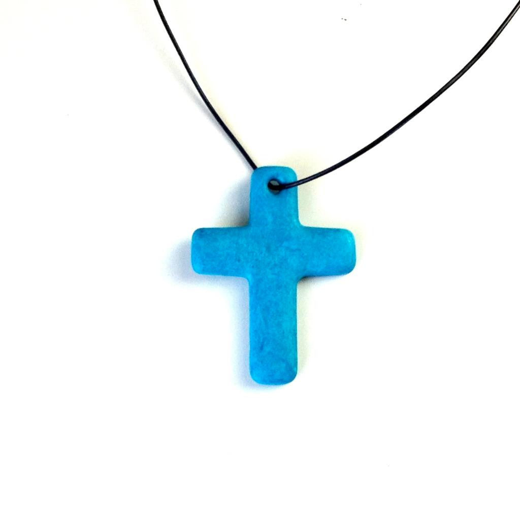 Large Cross Turquoise