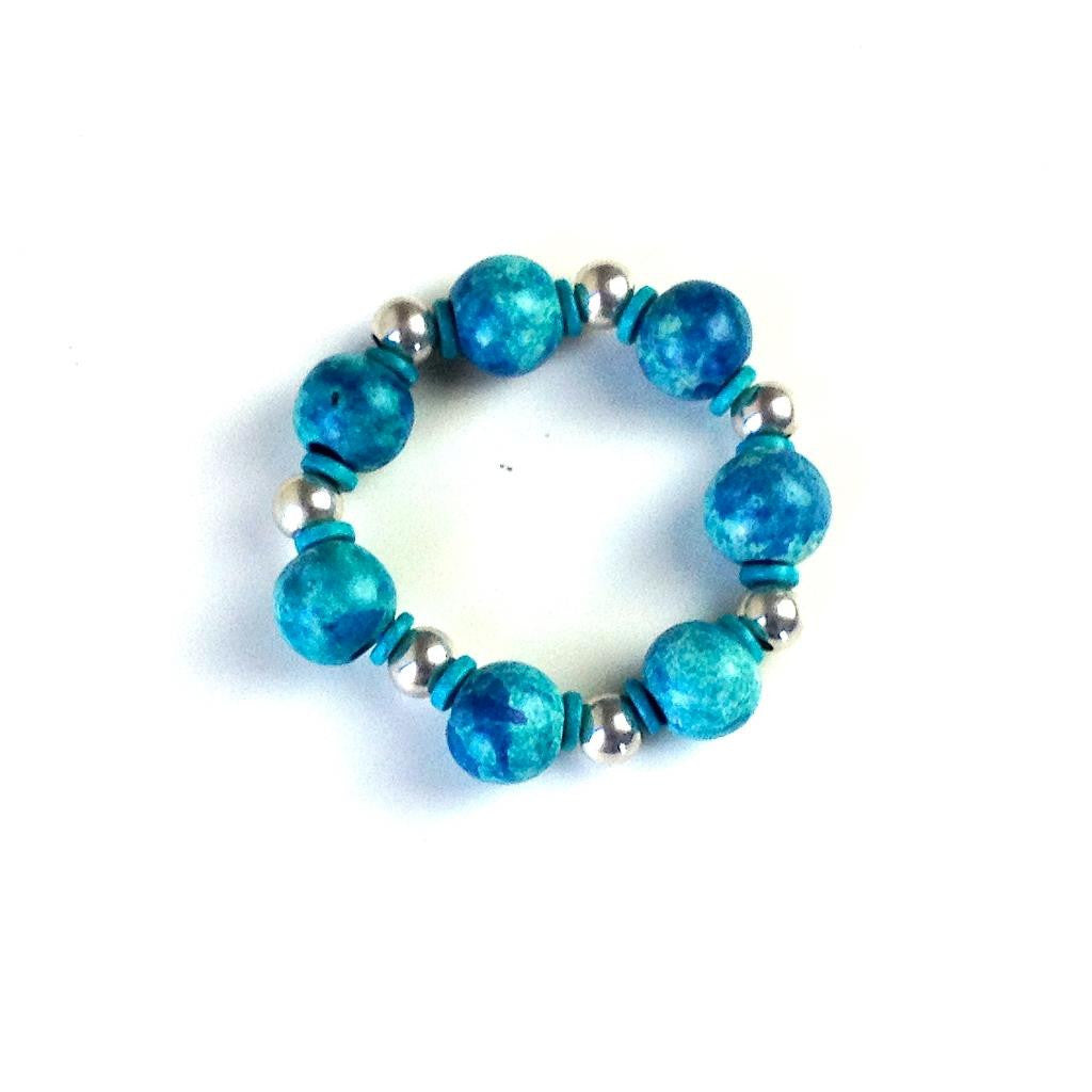 Blue Bracelet with large components