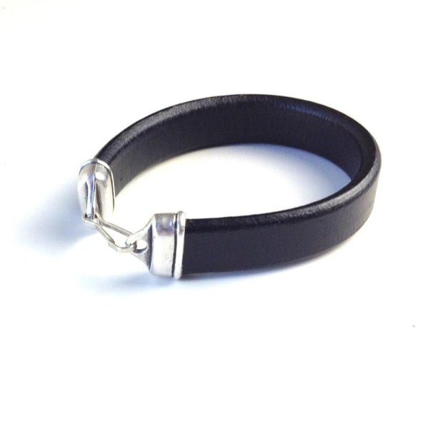 Leather Bracelet - Black - Unisex