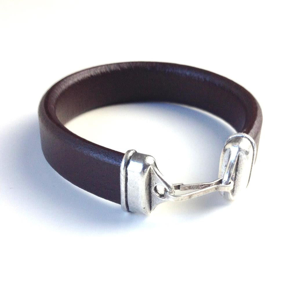 Leather Bracelet - Brown - Unisex