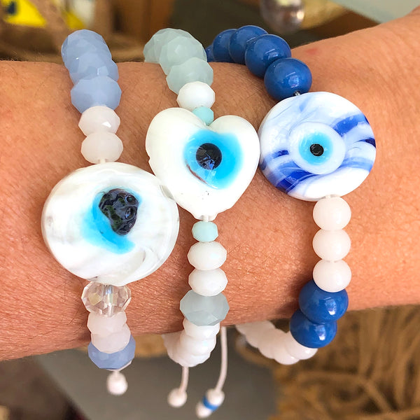 Bracelet with glass eye
