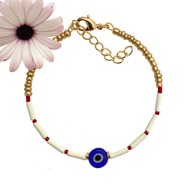 Bracelet Marti eye, March bracelet, Spring bracelet, Greek Martis