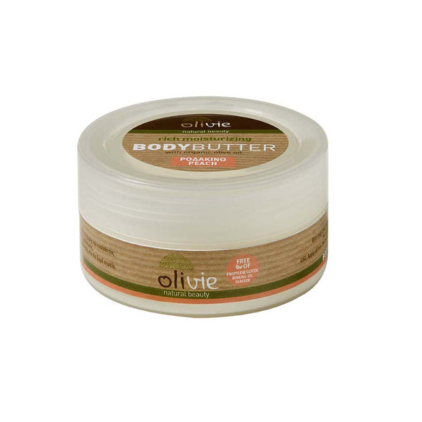 Olivie Body Butter with Organic Olive Oil and Peach