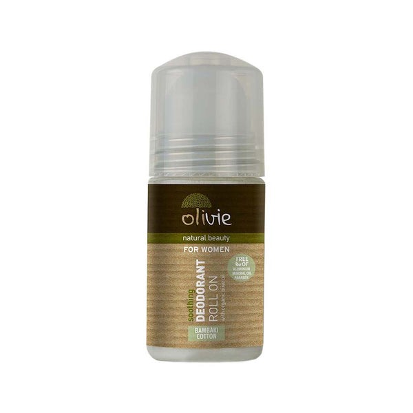 Olivie Deodorant Roll On with Organic Olive Oil and Cotton