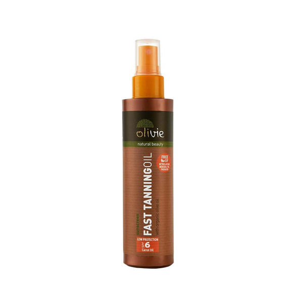 Olivie Fast Tanning Oil with Organic Olive Oil and Carrot Oil SPF 6