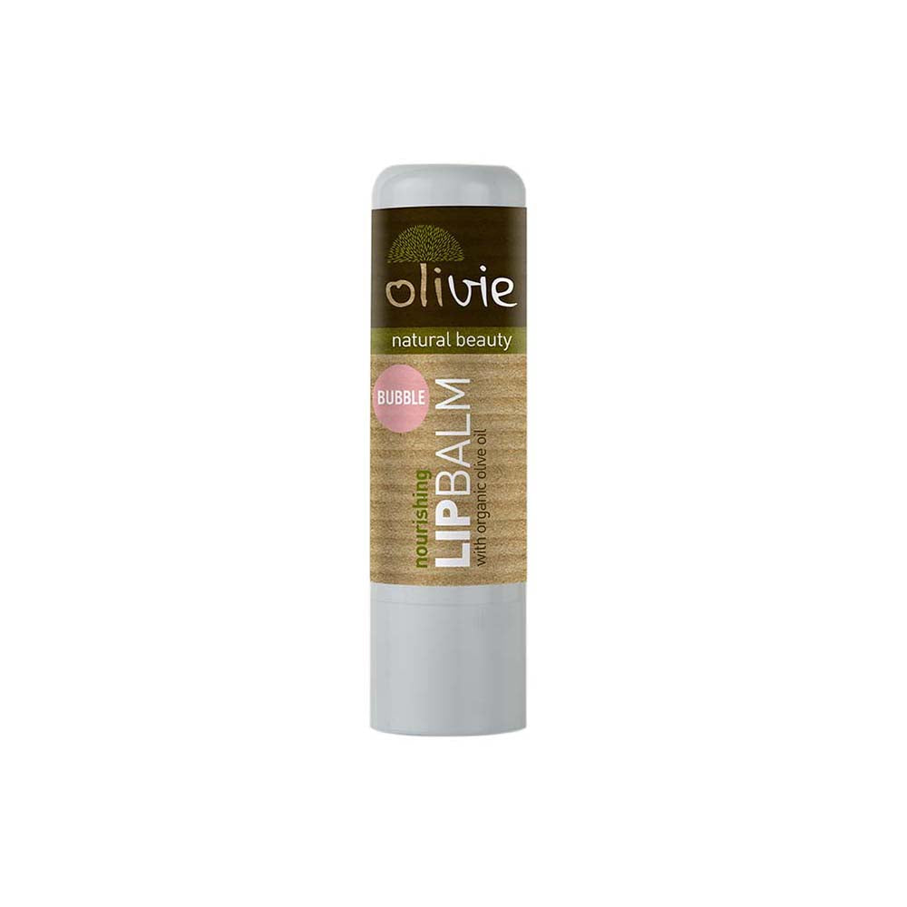 Olivie Lip Balm with Organic Olive Oil and Bubble