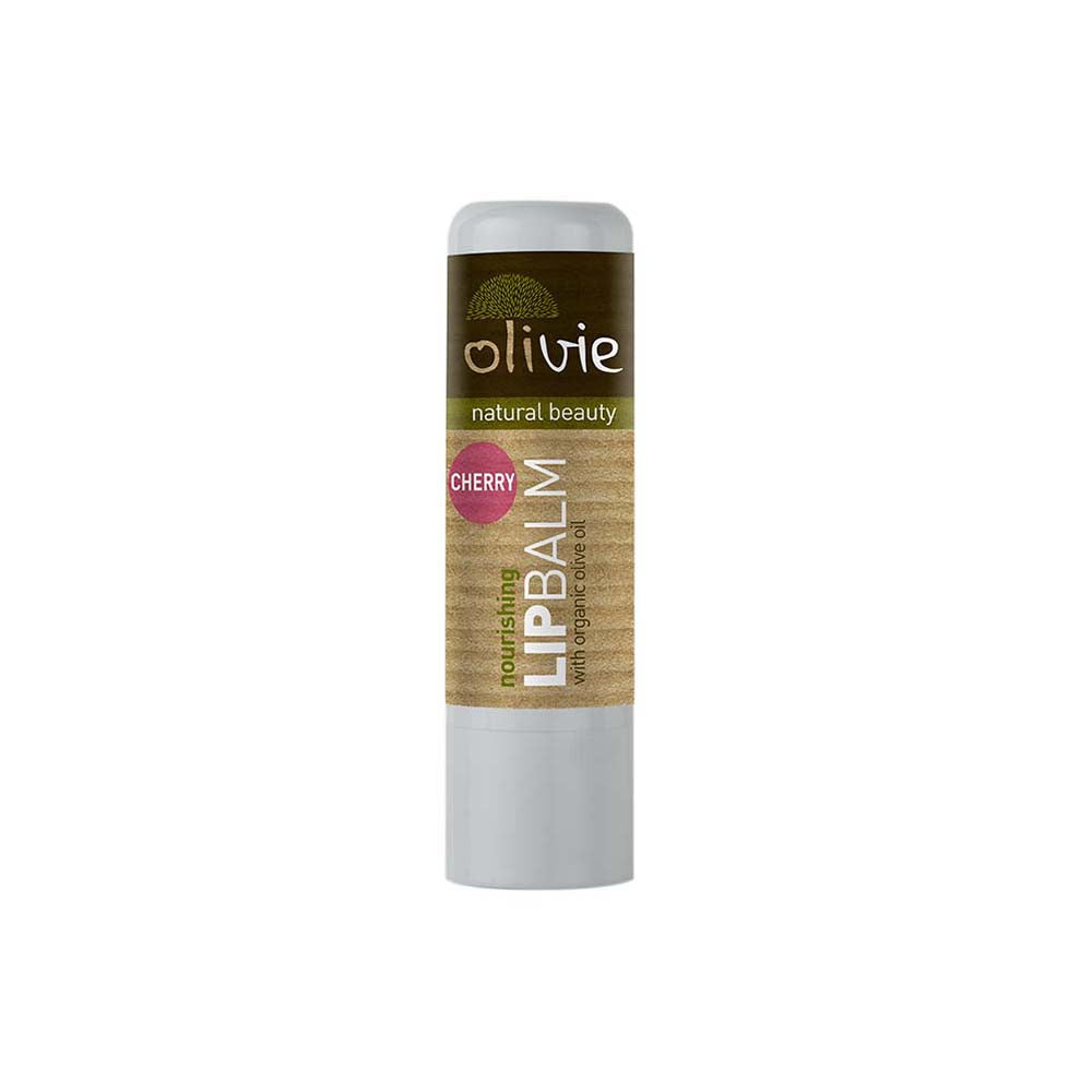 Olivie Lip Balm with Organic Olive Oil and Cherry